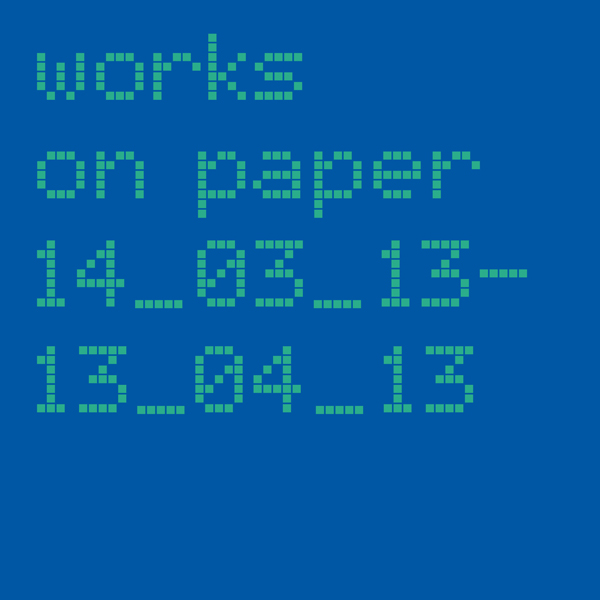 Works on Paper cover